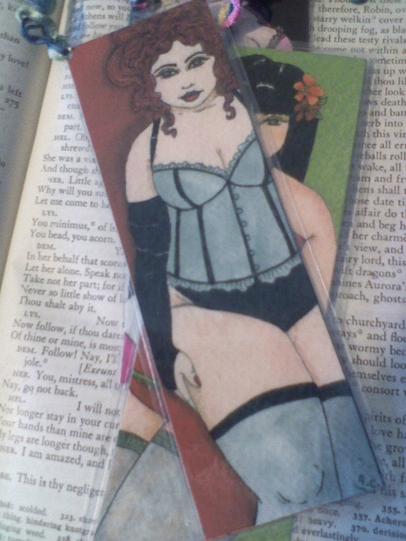 Fat girl BBW pin-up bookmark 2