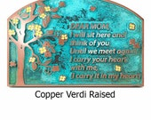 Blossom Tree Plaque with Painted Flowers for Wedding or Memorial or Remembrance Plaque 12 x 8 inches made in the USA