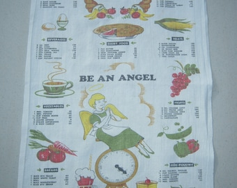 Vintage Towel Be An Angel & Watch Calories