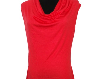 Strawberry-Designer Womens Classic Cowlneck Blouse