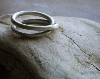Fine Silver Infinity Ring, for Men and Women