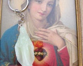 Glow in the Dark VIRGIN MARY Keychain Car Shrine-- Protection that you need on those crazy streets