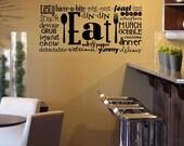 Eat (Subway Art) vinyl lettering art decal wall sticker