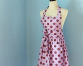 Sparkle & Shine Full Apron for Women with Anna Maria Horner Fabric in Purple