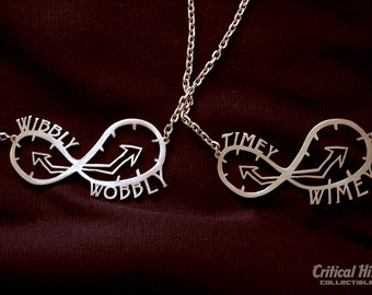 Spacetime Companions Necklace Set laser cut stainless steel - science fiction geekery Time Doctor inspired