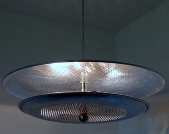 Forbidden Planet flying saucer pendant light