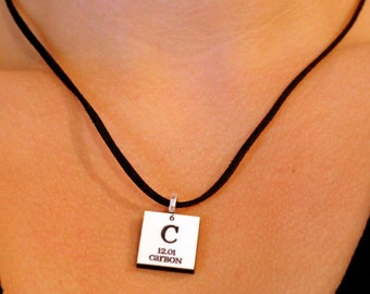 Science Jewelry//Chemistry Necklace//Periodic Table of Elements Necklace//Gift for Science Teacher//Personalize with any Element
