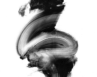 Giclee print - multiple sizes. Black and white abstract. Limited to 200 printings.