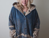 SNOWCOVERED FOREST Hooded Jacket Reversible Large