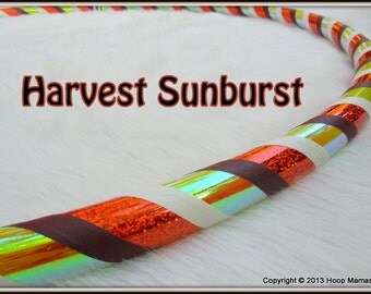 NEW Custom Travel Hula Hoop - 'Harvest Sunburst' - Made YOUR Way. Changes Color as it Reflects Light.