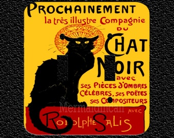Chat Noir Double Light Switchplate Covers Toggle/Rocker/Outlet
