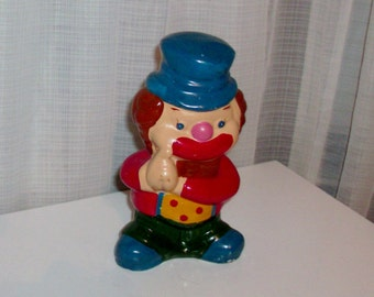 Clown with a Blue Hat Bank Figurine