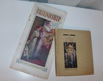 1912 Friendship Gift Book Collection of Antique Books (Code v)