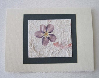 Flower Greeting Card, Handmade Greeting Card, Real Flower Card, Blank Card, Any Occasion Card
