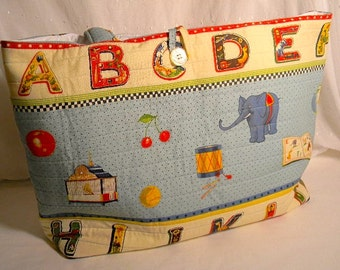 Vintage Alphabet Diaper Bag for Baby