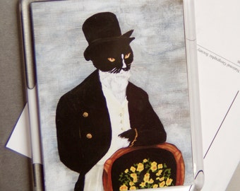 Tuxedo Cat Magnet, Mr Darcy Cat, Fancy Dressed Cat Refrigerator Magnet