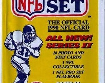 1990 Pack of the OFFICIAL NFL Pro Set Football Cards from Series Two 14 cards