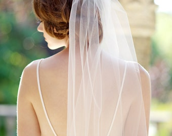 Bridal veil,  single layer veil, wedding veil, ivory veil, single tier veil, bridal - FREE SHIPPING*