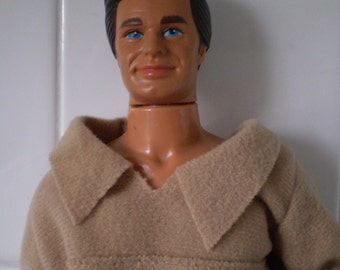 "Vintage Mattel Disney Davy Crockett 12"" Action Figure Doll"