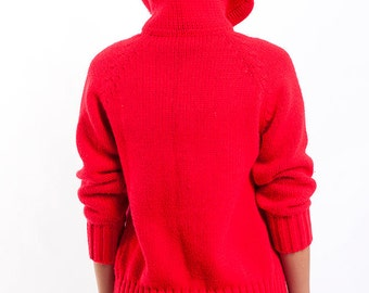 The Vintage Red Villain Sweater Cardigan