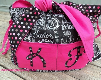 Handmade Shoulder Bag, Tote, Purse with Adjustable Sizing and Fully Reversable