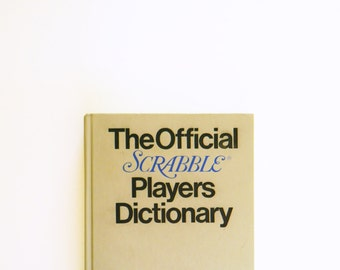 Vintage 1970s Scrabble Dictionary / Vintage Display Book / Collectible Books / Vintage Typography / Helvetica Font