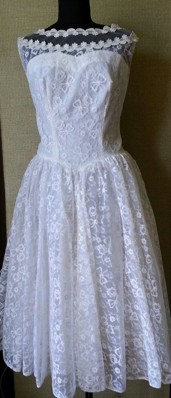 SOLD 1950's Vintage Lace Gown