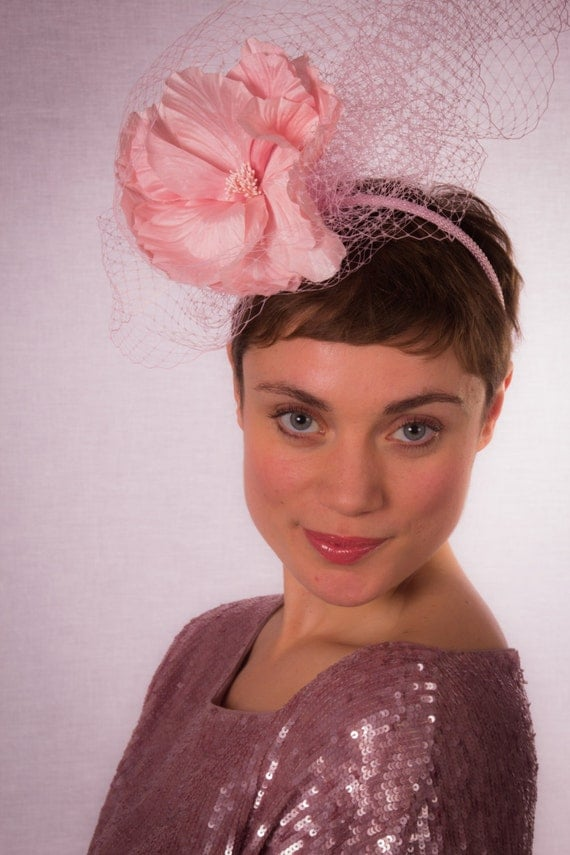 Pink floral fascinator CLEARANCE REDUCED 40%
