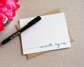 Personalized Stationery / Holiday Gift / Calligraphy Note Cards / Set of 8
