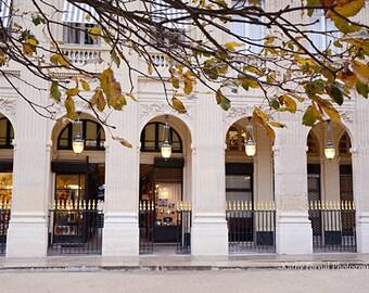 Paris Photography, Jardin du Palais Royal, Autumn In Paris, Paris Palais Royal Architecture, Paris Wall Art Decor, Paris Fine Art Photo