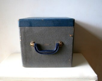 Salvaged Vintage Wooden File Box Carry Case