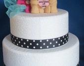 Teddy Bear Wedding Cake Topper Personalized Heart