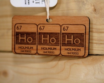 Periodic Table HoHoHo Christmas Ornament