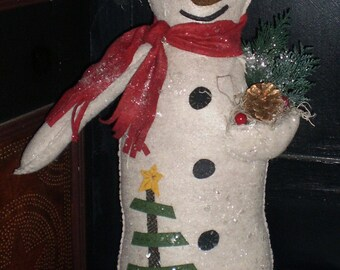 Oley Valley Primitives Wool SNOWMAN Digital Download
