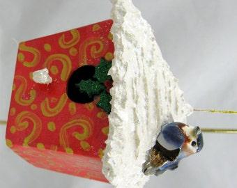 Christmas Birdhouse Ornament 111