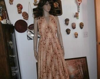 Haullter Maxi Dress Womens Dress Empire Waist-Womens Vintage Dress