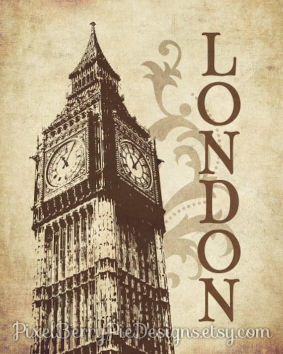 London printable art