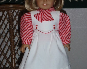 1930s 3 pc Holiday Outfit Jumper Blouse Scarf for American Girl Kit Ruthie 18 inch doll