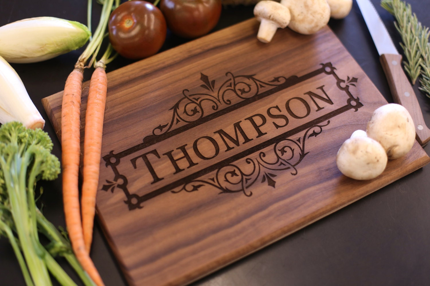 Monogram Wedding Gift Ideas: Personalized Cutting Board Christmas Gift Bridal Shower Gift
