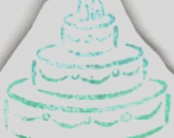 Wedding Cake - New UM Rubber Stamp - ATCs - Cards - Collage - Domino Art - Scrapbooking- Invitations - FREE Shipping
