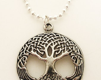 Celtic Tree of Life Silver Irish Necklace