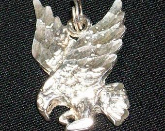Vintage Sterling Silver Eagle Pendant