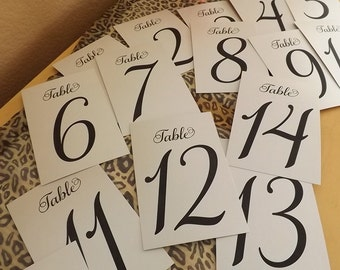 Table Numbers, Table Number, (SET of numbers 1-20) Seating Numbers, Mesa, Seating Chart, Wedding Seating,