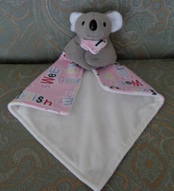 Gray Koala Bear Lovey Minky Blanket Animal Toy New Baby Girl
