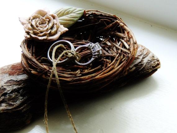 birds nest ring bearer pillow alternative by unconventionalj