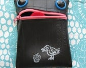 Meep the Recycled Tire Monster Coin Purse
