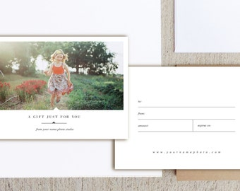 Photographer Gift Card Templates - Photoshop Template - Holiday Gift Cards