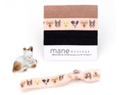 The Puppy Love Package - 3 Elastic Dog Face ASPCA Donation Hair Ties that Double as Bracelets by Mane Message on Etsy