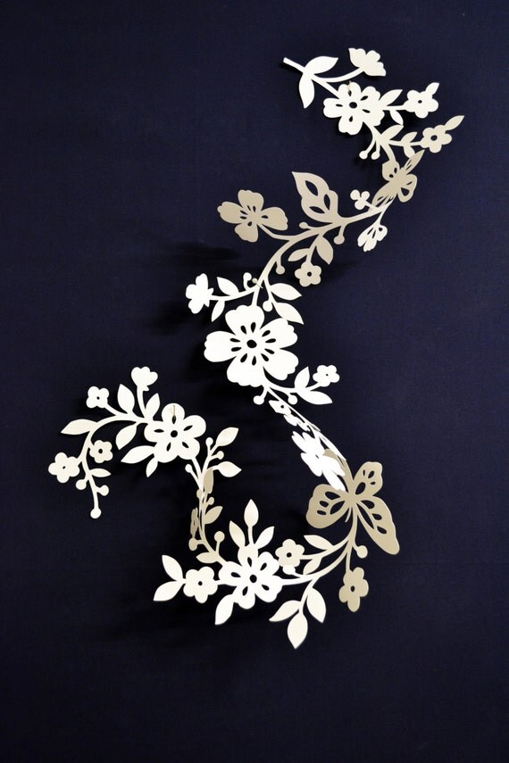 Paper floral tendril for wedding decoration customisable