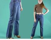 Vintage High Waist Jeans RALPH LAUREN High Waisted Jeans Distressed Wash Straight Leg Boyfriend Fit Womens Denim Blue Jeans Waist 30
